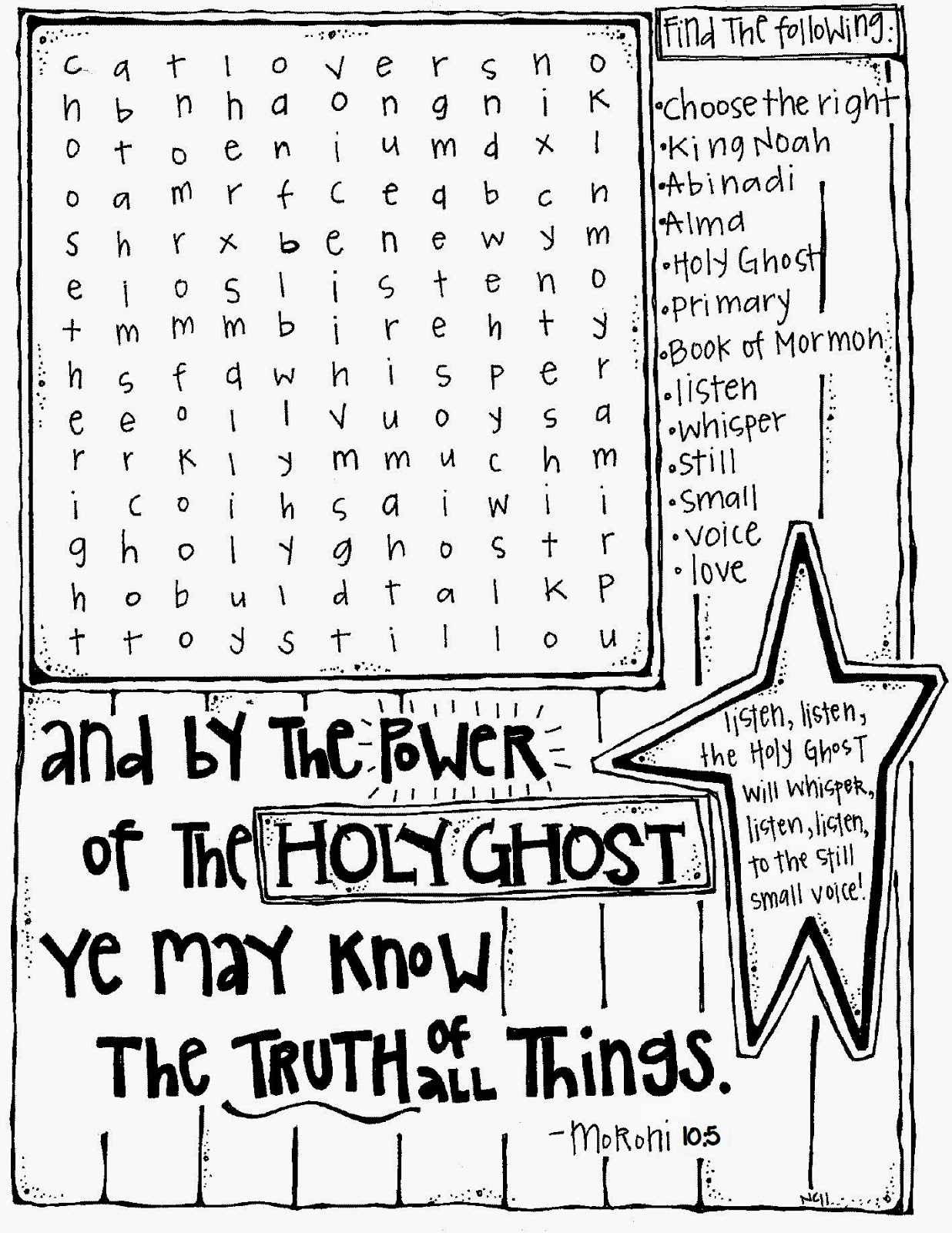 Holy Ghost Crossword