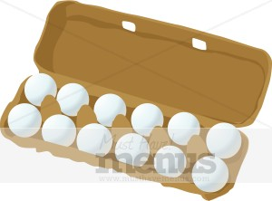 Of Eggs Clipart A Dozen Farm Fresh Eggs Are Lined In Two Rows In