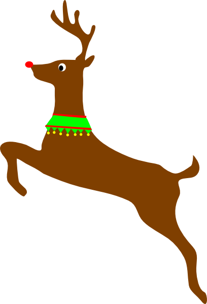 Rudolph The Red Nosed Reindeer Clip Art At Clker Com   Vector Clip Art
