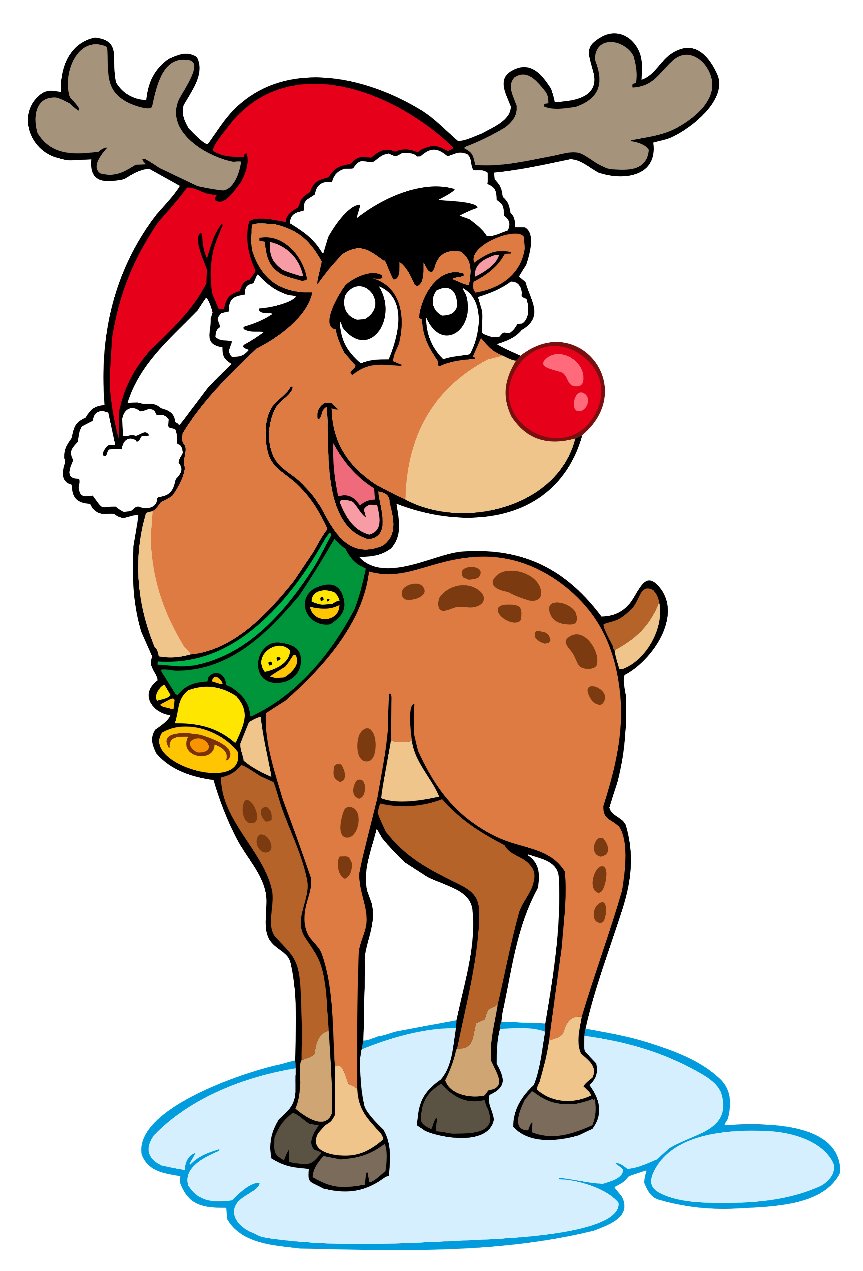 Rudolph The Red Nosed Reindeer Clipart Christmas Pictures Reindeer