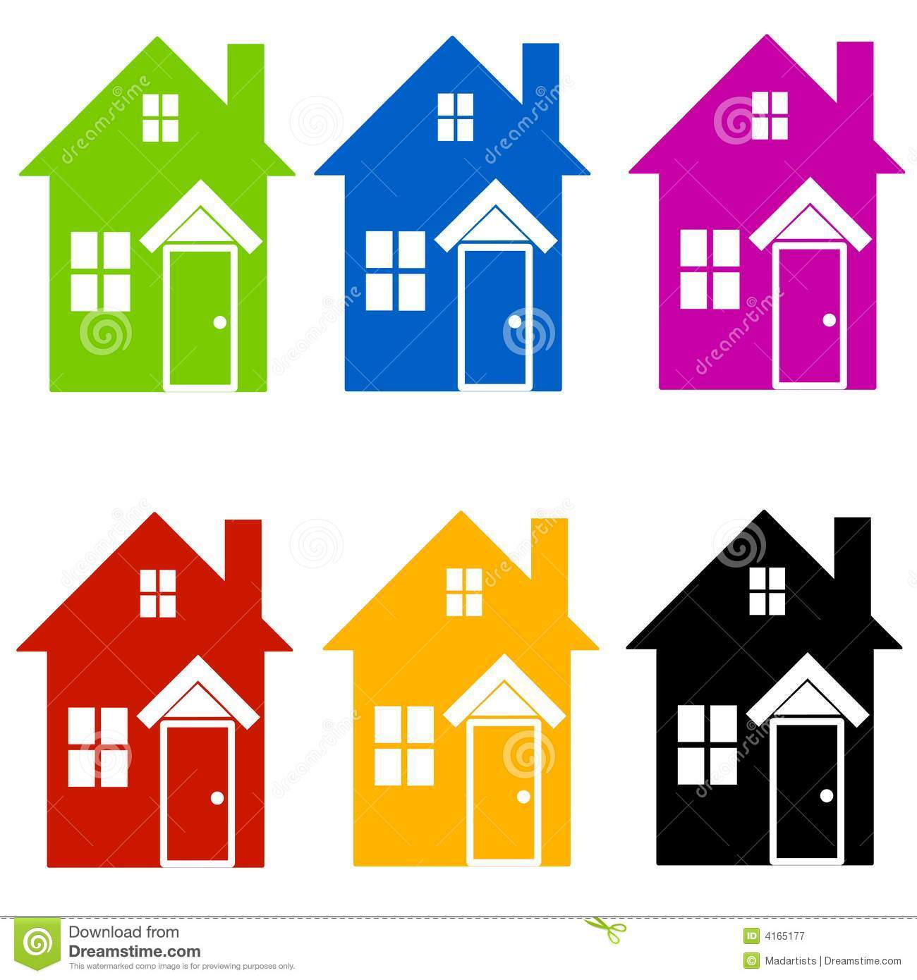 House Silhouette Graphic Clipart - Clipart Kid