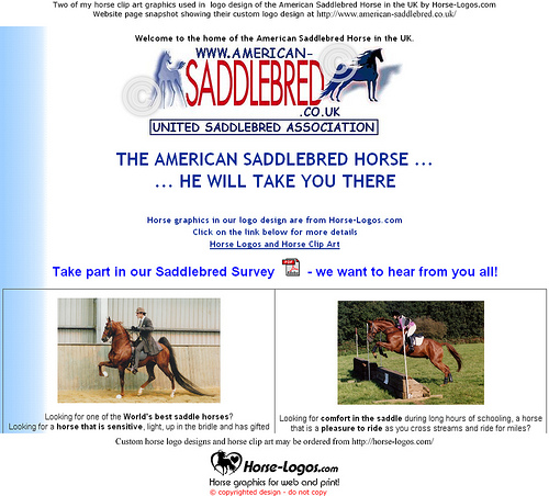 Two Of My Horse Clip Art Graphics Were Used For The Logo Design Of The