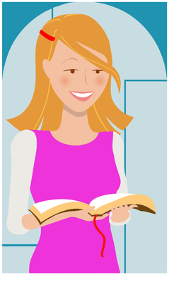 Bible Girl Clipart Girl S Bible Study Time To Get Together And Talk