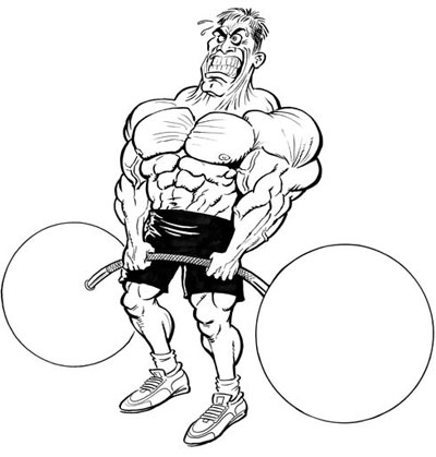Bodybuilder Cartoon