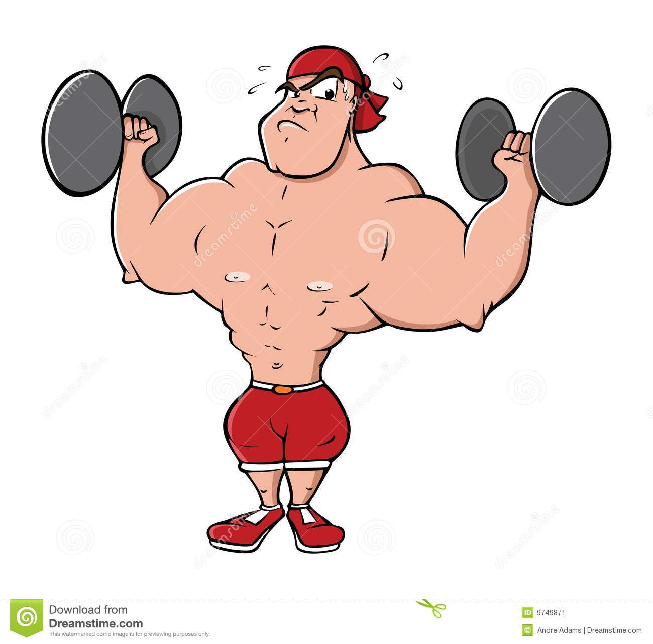 Bodybuilder Lifting Weights Stock Image   Image  9749871