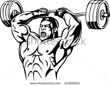 Bodybuilding And Powerlifting   Vector    Stock Vector