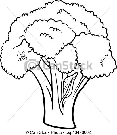 Broccoli Clipart Black And White Black And White Cartoon