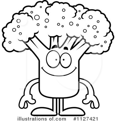 Broccoli Clipart Black And White Royalty Free  Rf  Broccoli