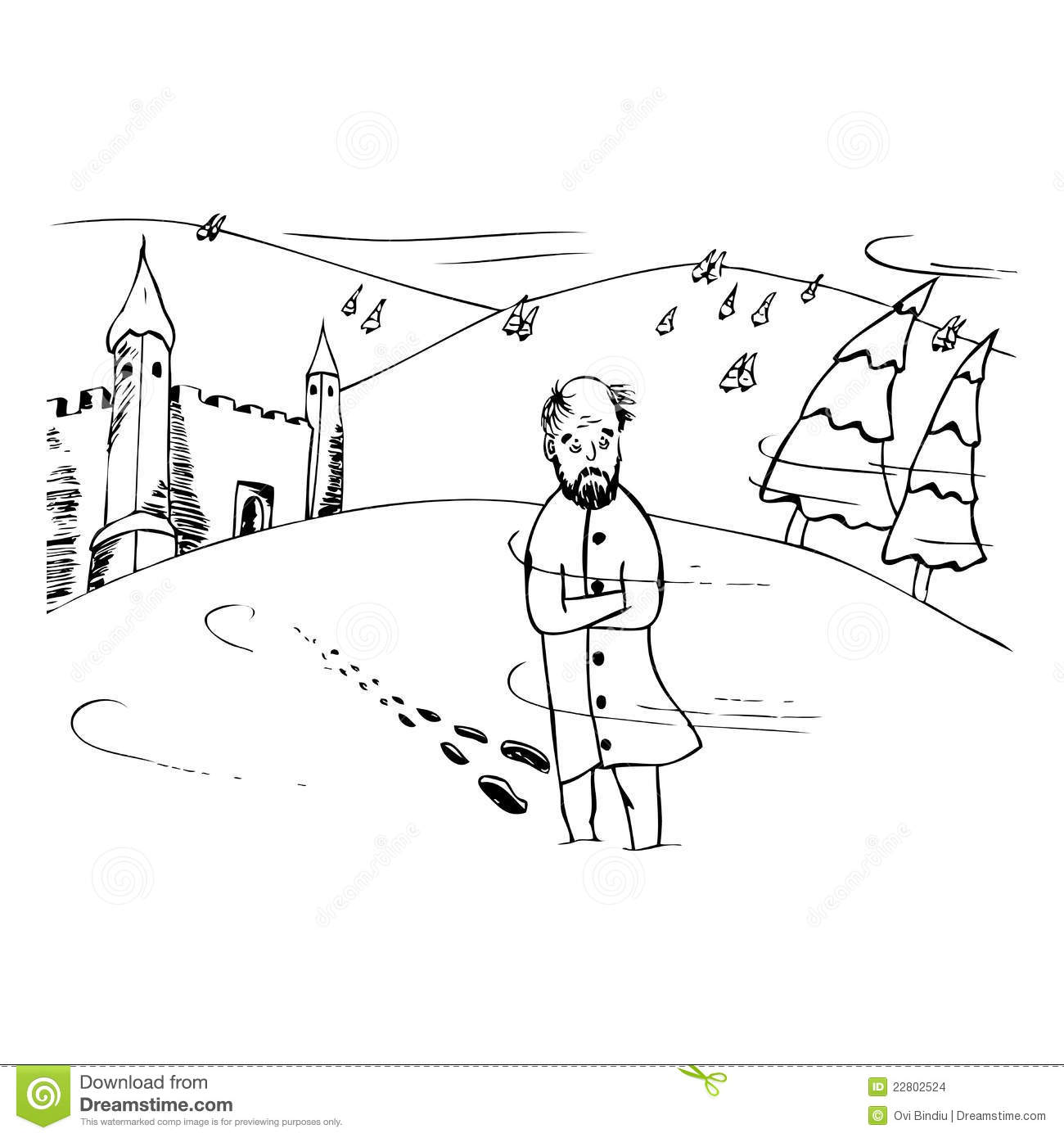 Children Walking In Snow Colouring Pages  Page 3