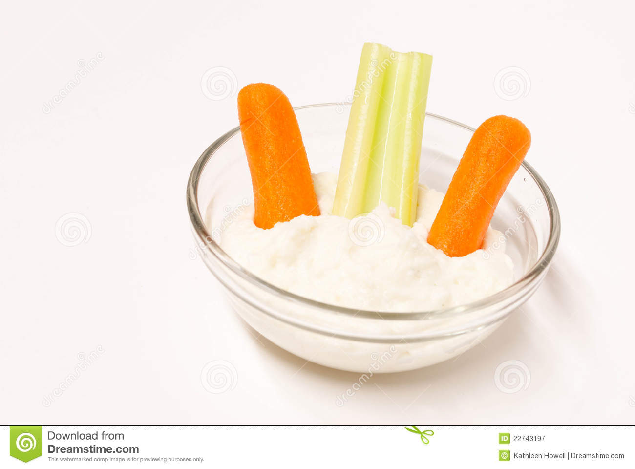 Clear Bowl Of Dip And Veggies  Royalty Free Stock Photography   Image