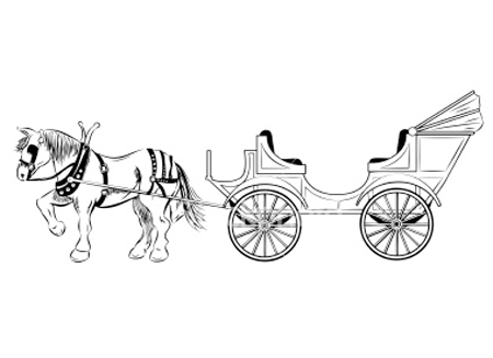 Clip Art Horse Drawn Carriage Clipart And Illustrations Old Cars Stock
