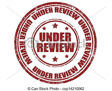 Clip Art Vector Of Under Review Stamp   Grunge Rubber Stamp With Text