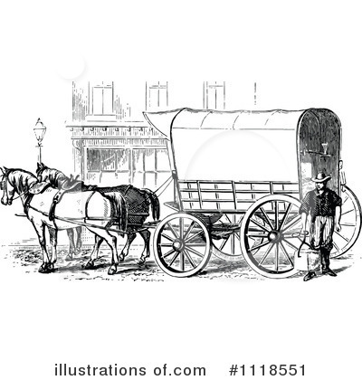 Horse Drawn Carriage Clipart Royalty Free  Rf  Carriage