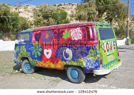Matala   November 11  Hippie Bus From The Hippie Festival In Matala