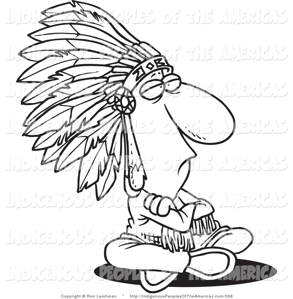 Native American Indian Chief Native American Clip Art Ron Leishman