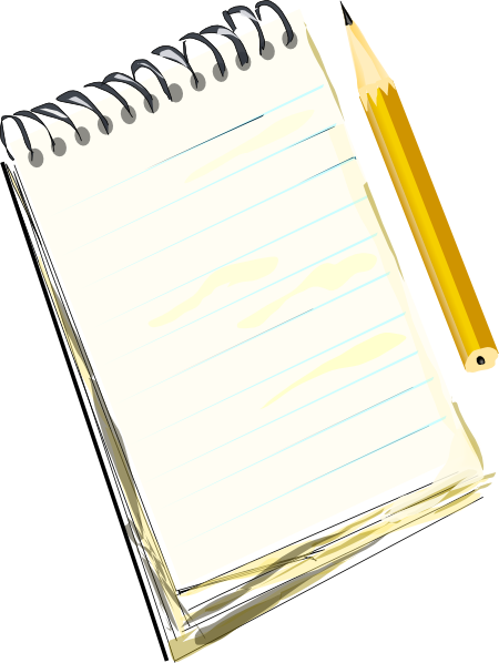 Notepad Pencil Clip Art At Clker Com   Vector Clip Art Online Royalty