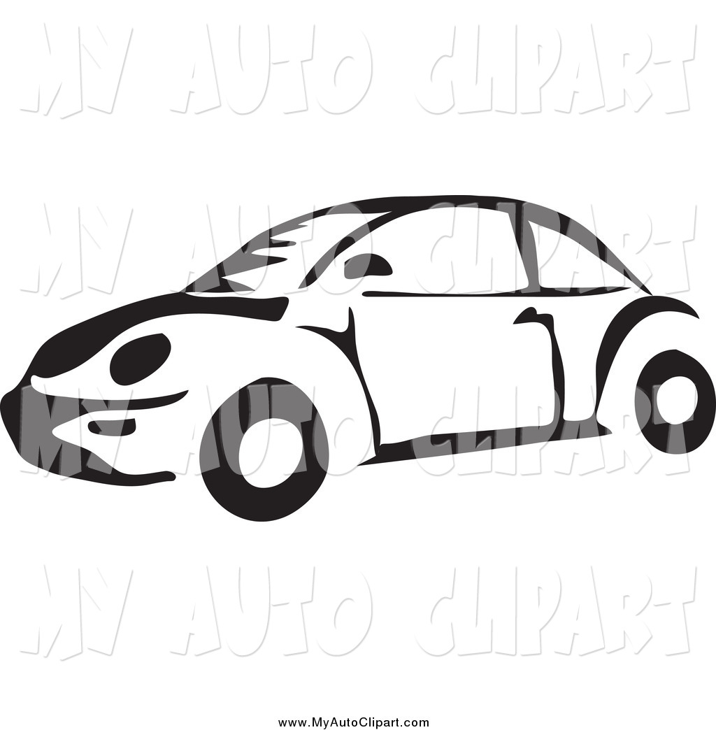 Preview  Clip Art Of A Black And White Vw Bug Beetle Car By Prawny