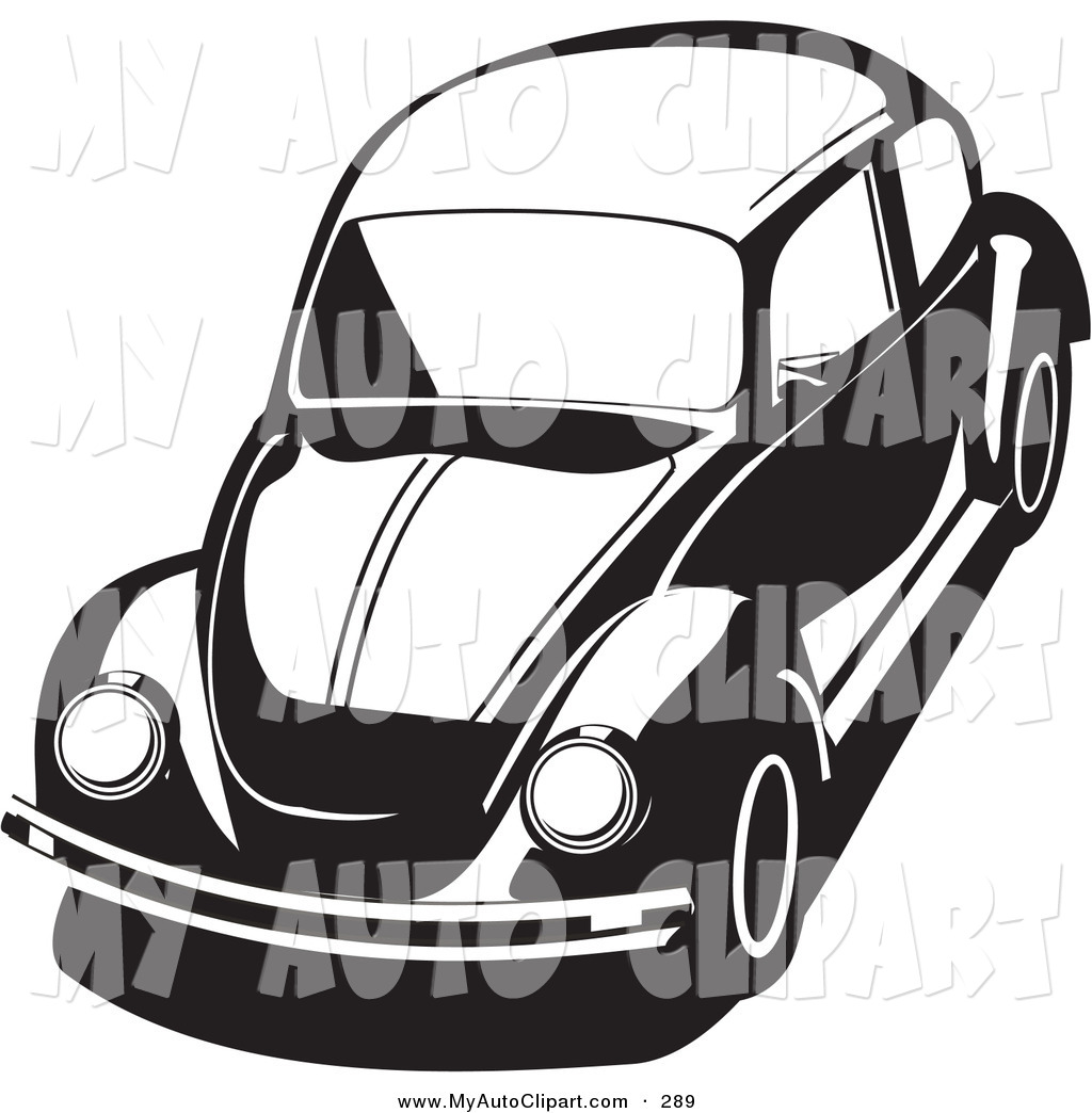 preview clip art of a compact bug car in black and white by david rey jpodqv clipart suggest. Black Bedroom Furniture Sets. Home Design Ideas
