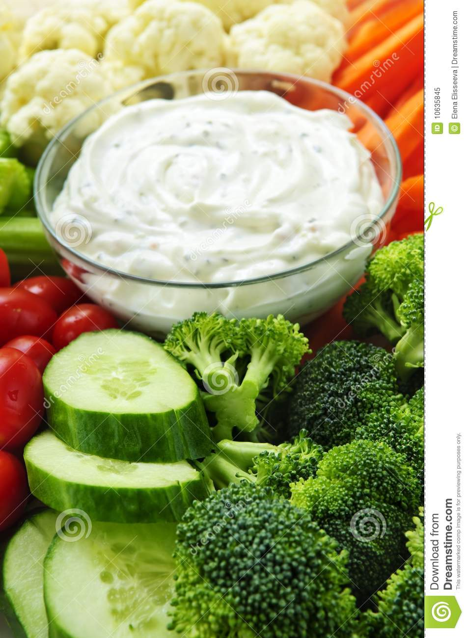 Vegetables And Dip Royalty Free Stock Photo   Image  10635845