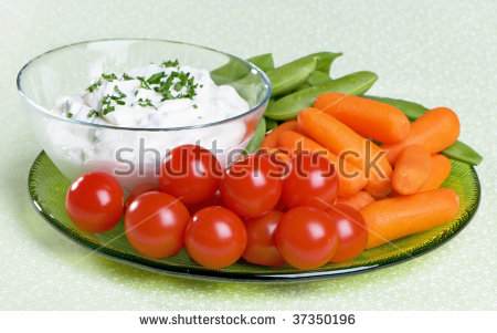 Veggie Dip Clip Art Vegetable Plate With Sour