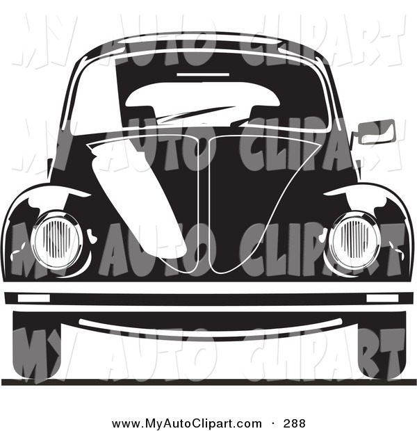 Vw Bug Clipart Black And White Clip Art Of A The Front Of A