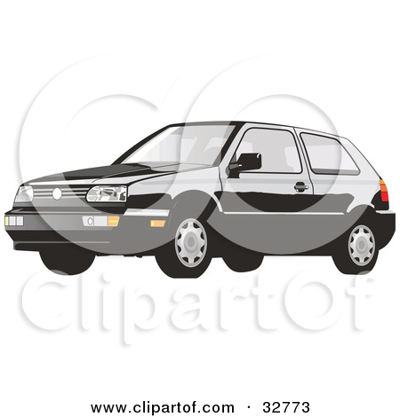 Vw Bug Clipart Black And White Clipart Illustration Of A Volkswagen