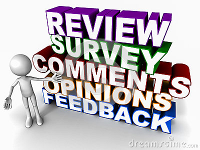 Words Review Feedback Survey Opinion Comments On White Background With