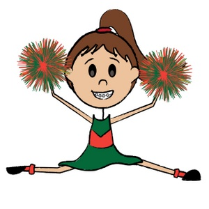 Cheerleader Clipart Image   Cute Young Cheerleader Girl Doing The