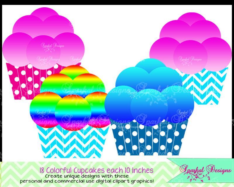 Cupcake Clipart Polka Dot Cupcake Clip Art Birthday Party Clipart