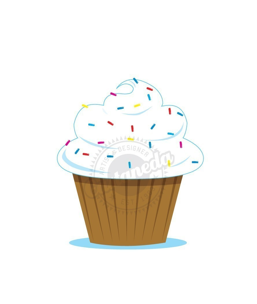 Displaying 18  Images For   Cupcakes With Sprinkles Clipart