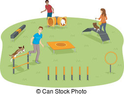 Dog Park Clipart And Stock Illustrations  1917 Dog Park Vector Eps