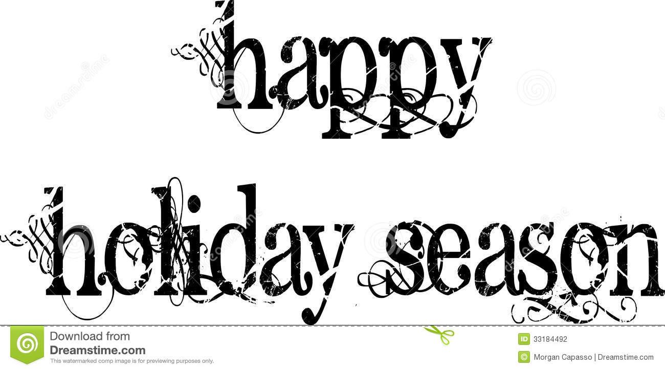 Happy Ho Iday Black And White Clipart - Clipart Kid