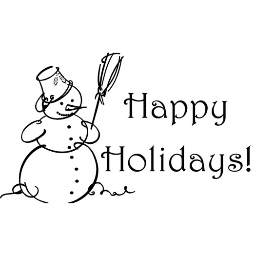 Happy Ho Iday Black And White Clipart - Clipart Kid