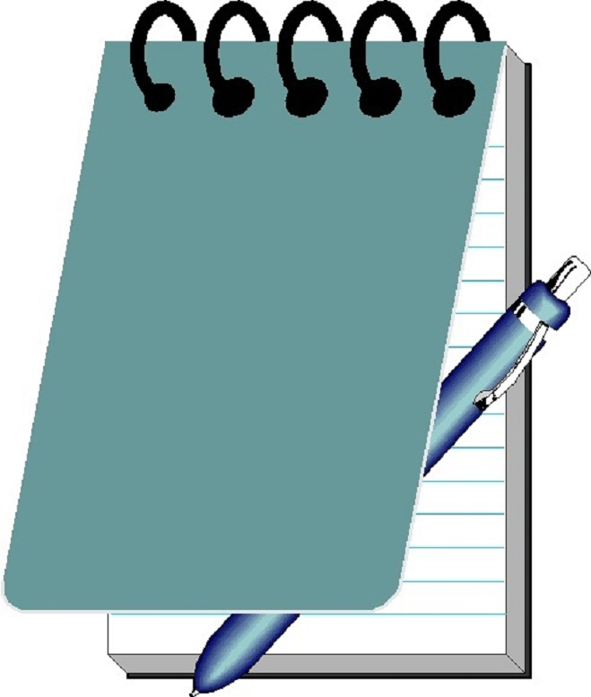 Notebook And Pen Clipart Kid