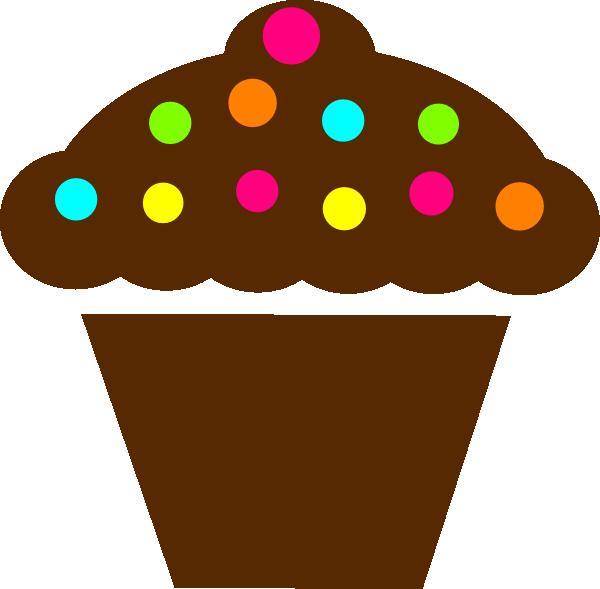Polka Dot Cupcake Clip Art At Clker Com   Vector Clip Art Online