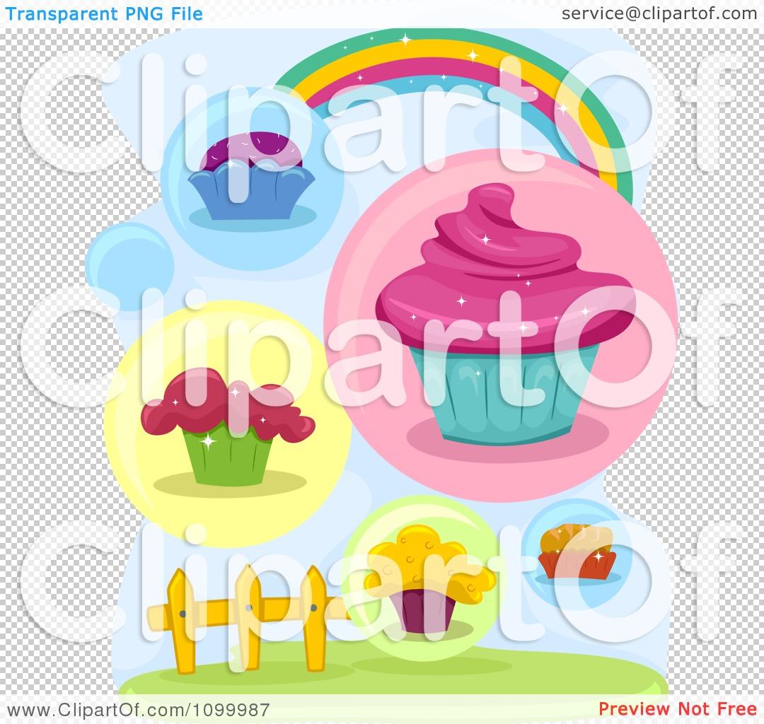 Rainbow Cupcake Clipart Clipart Rainbow With Cupcakes