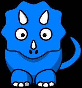 Baby Blue Dinosaur Clip Art At Clker Com   Vector Clip Art Online