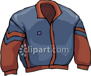 Blue And Brown Jacket Royalty Free Clipart Picture