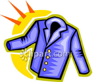Blue Suit Jacket Royalty Free Clipart Picture
