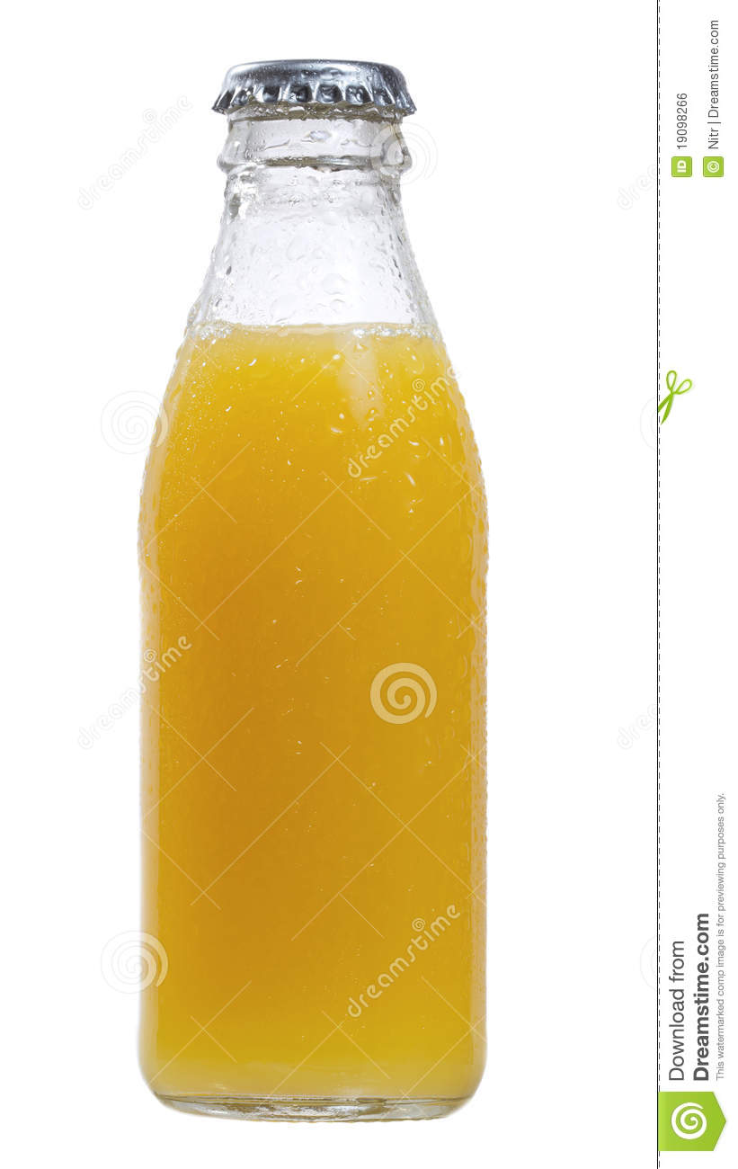 Bottle Of Orange Juice Royalty Free Stock Image   Image  19098266