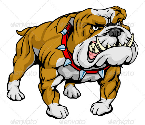 British Bulldog Clipart Illustration