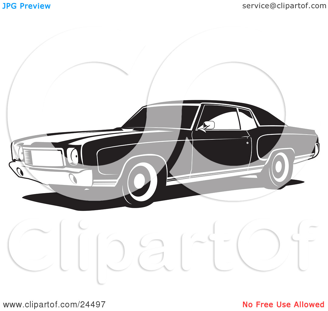 Clipart Illustration Of A 1970 Chevy Monte Carlo Muscle Car With White