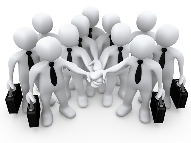 Clipart Illustration Of A Group Of White Business People Carrying