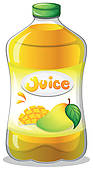 Clipart Of A Bottle Of Juice K12800322   Search Clip Art Illustration