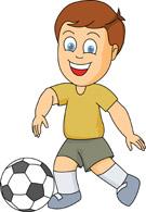 Boys Soccer Clip Art
