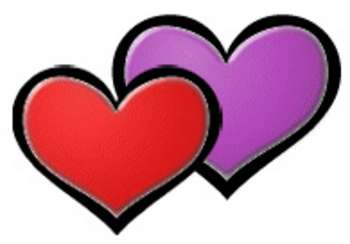Free Valentine Picture Of Two Hearts Clipart Valentine Clipart Com