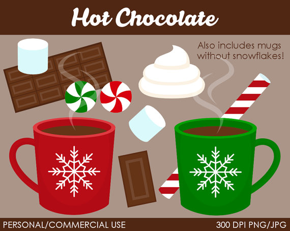 Hot Chocolate Clipart   Digital Clip Art Graphics For Personal Or