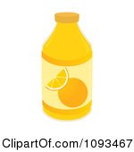 Juice Character Bottle Of Orange Juice Glass Of Orange Juice Orange