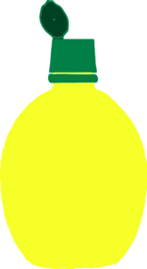 Lemon Juice Bottle Clip Art At Clker Com   Vector Clip Art Online