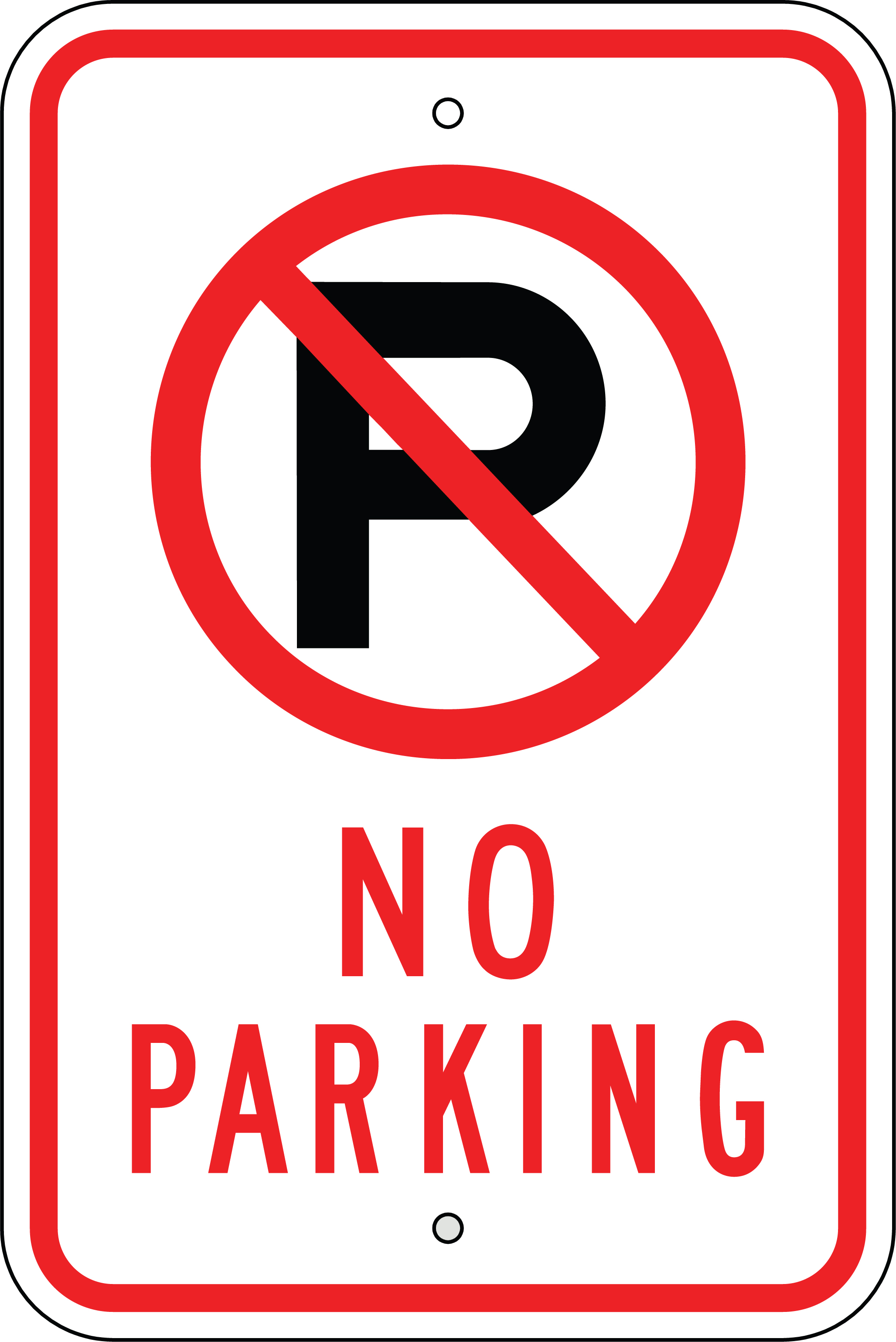 No Parking Sign Clipart - Clipart Kid